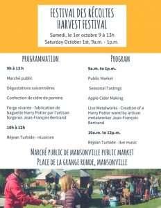 Festival des récoltes @ Marché public de Mansonville