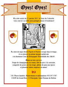 Popote et Parlote médiéval @ Coop du Grand Bois | Saint-Étienne-de-Bolton | Québec | Canada