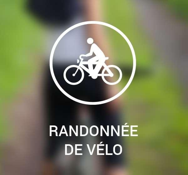 Pictogramme randonnée de vélo